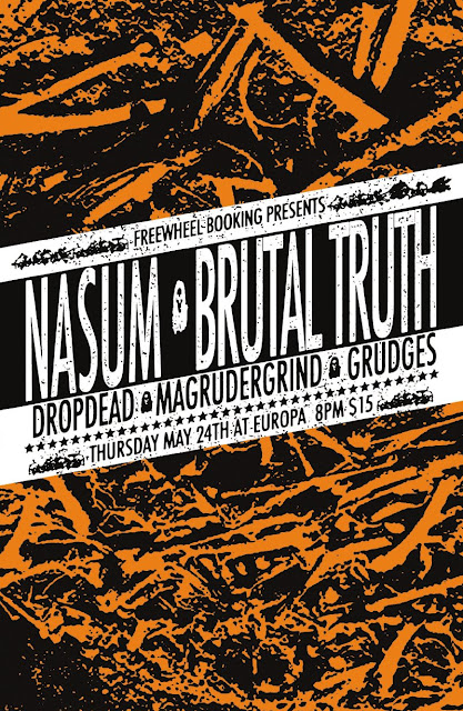 Nasum-Brutal Truth-DropDead-Grudges-Magrudergrind @ Europa Brooklyn NY 5-24-12