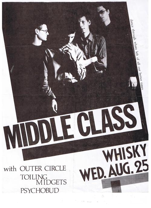 Middle Class-Outer Circle-Toiling Midgets-Psychobud @ Whiskey Hollywood CA 8-25-82