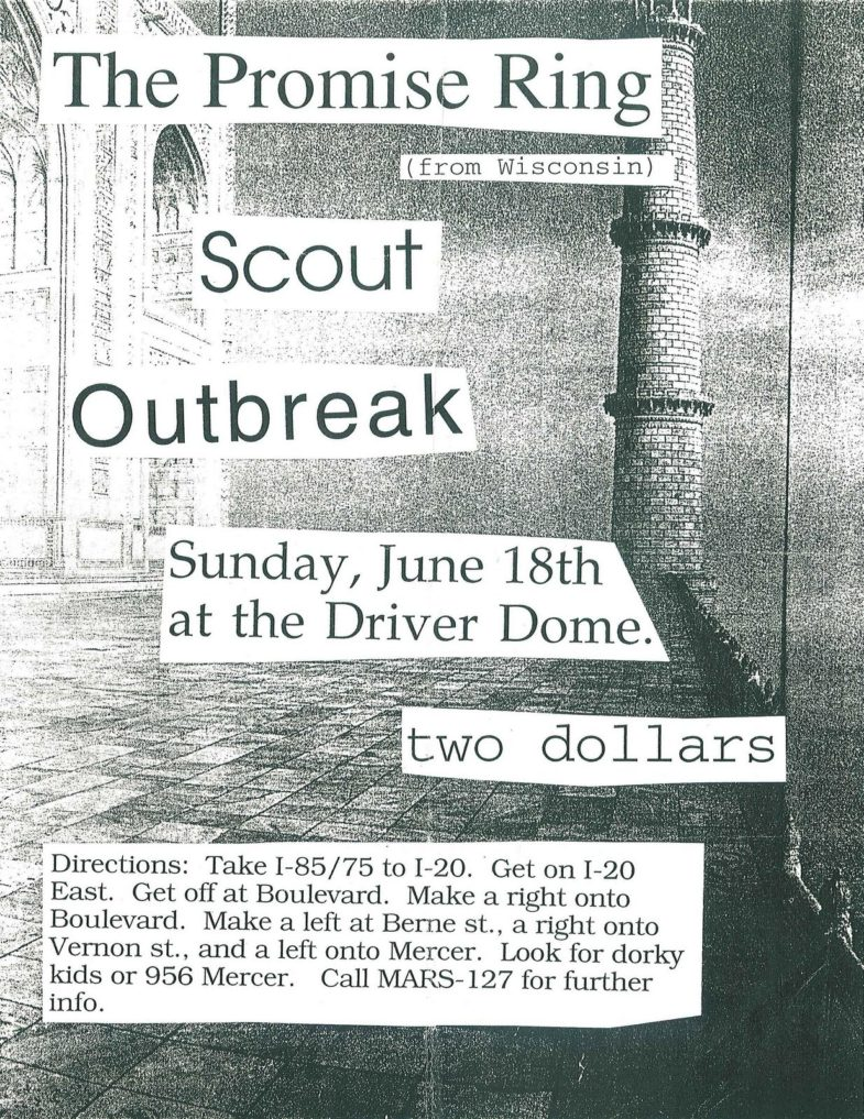 The Promise Ring-Scout-Outbreak @ The Driver Dome Atlanta GA 6-18-94