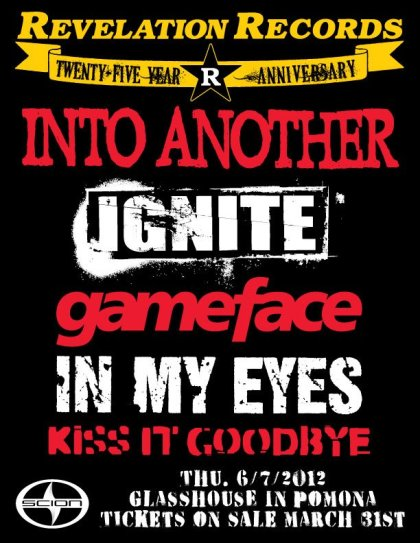 Into Another-Ignite-Gameface-In My Eyes-Kiss It Goodbye @ Glasshouse Pomona CA 6-7-12