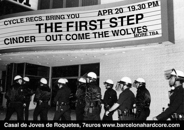 The First Step-Cinder-Out Come The Wolves @ Casal De Joves Barcelona Spain 4-20-08