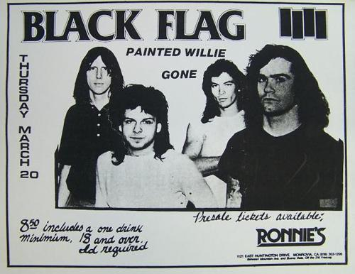 Black Flag-Painted Willie-Gone 3-20-86