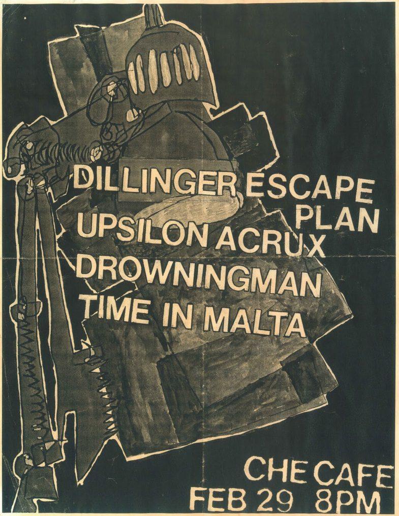 Dillinger Escape Plan-Upsilon Acrux-Drowningman-Time In Malta @ Che Cafe San Diego CA 2-29-00