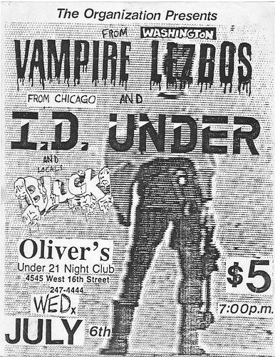Vampire Lezbos-ID Under-Bluck @ Oliver J's Allentown PA 7-6-94
