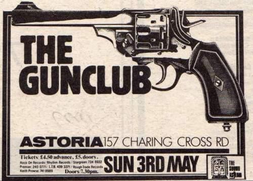 The Gun Club @ Astoria London England 5-3-81