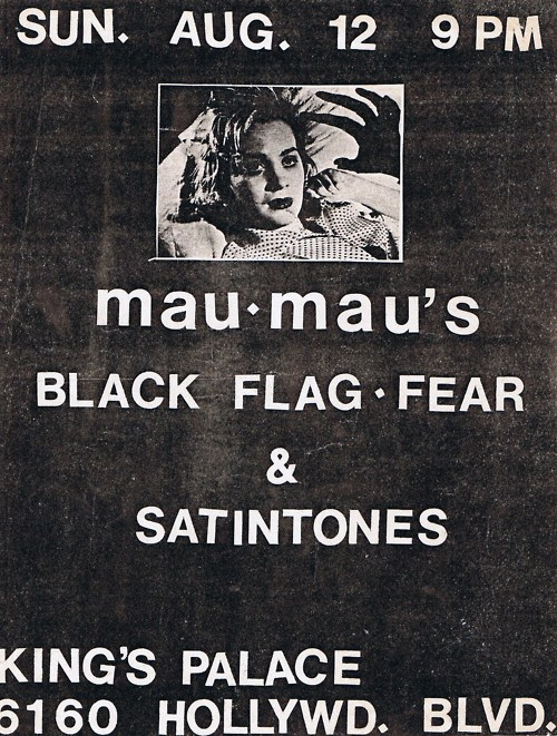 Black Flag-Fear-Satin Tones @ Mau Mau's Los Angeles CA 8-12-79