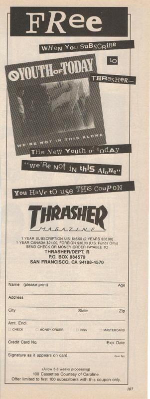 Youth of Today/Thrasher Magazine Promo
