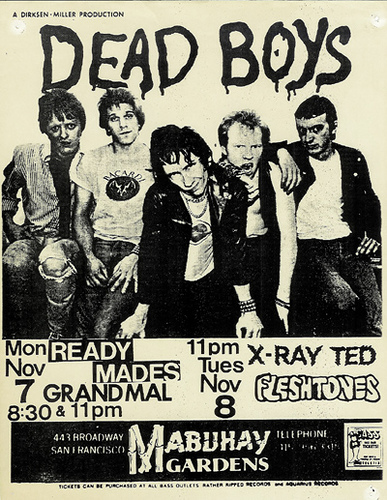 Dead Boys @ Toronto Canada 10-79