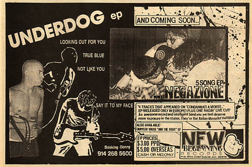 New Beginning Records (Negazoine, Underdog, Crippled Youth)