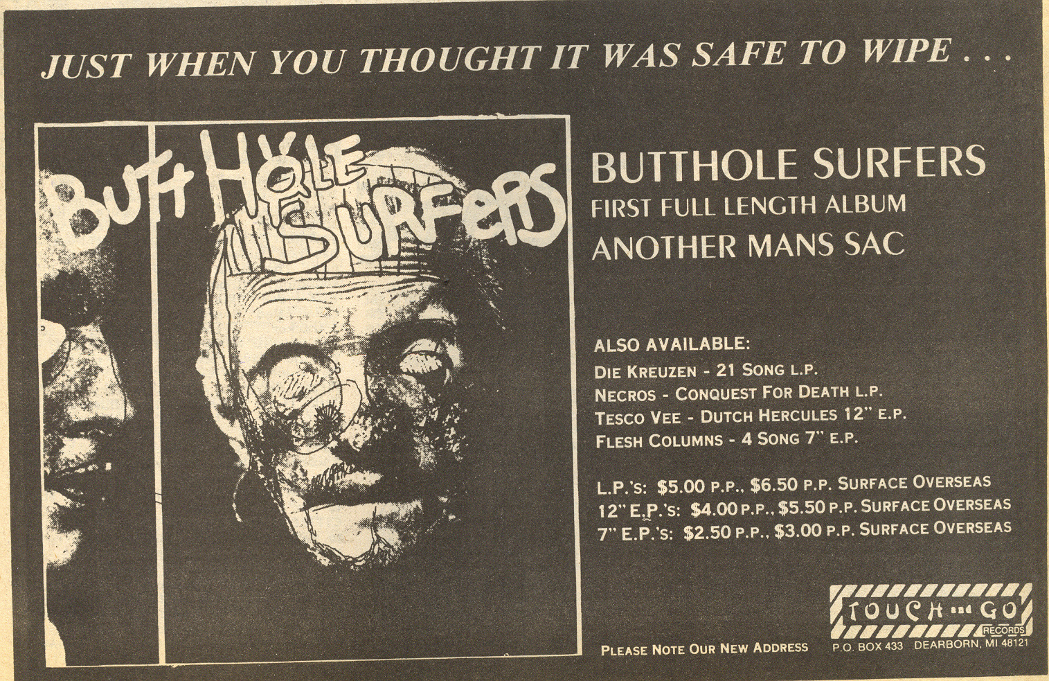 Butthole Surfers (Touch & Go Records)