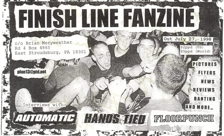 Finish Line Fanzine (Automatic, Floorpunch, Hands Tied)
