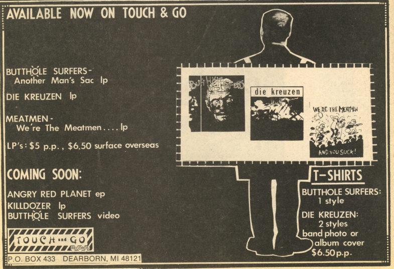 Touch & Go Records (Butthole Surfers/Die Kreuzen/etc)