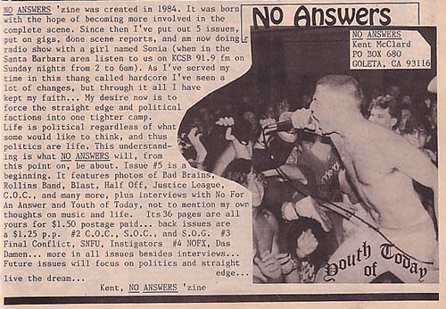 No Answers Fanzine