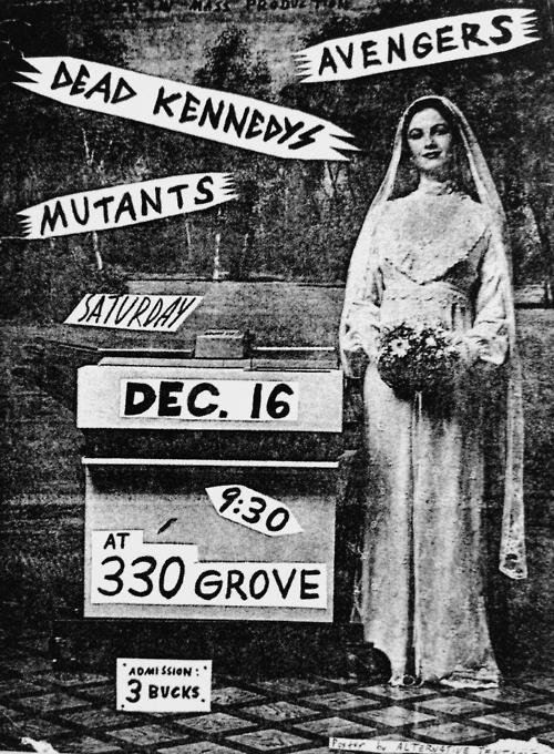Dead Kennedys-The Avengers-The Mutants @ Grove St. San Francisco CA 12-16-78