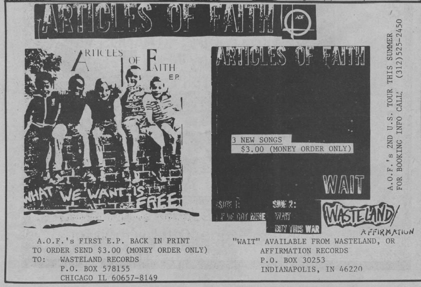 Articles Of Faith (Affirmation Records)
