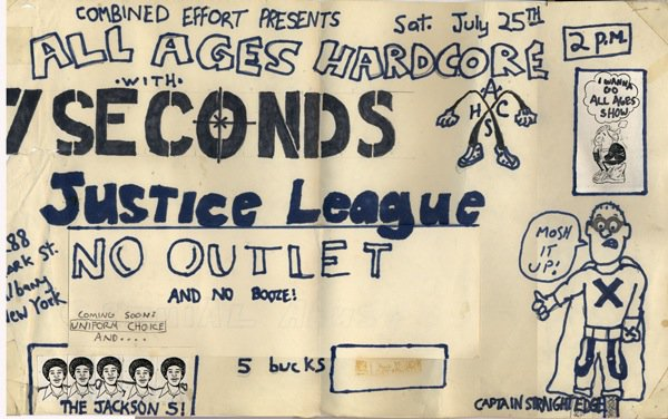 7 Seconds-Justice League-No Outlet @ Albany NY 7-25-87