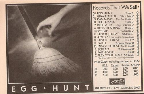 Egg Hunt (Dischord Records)