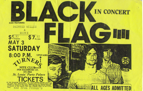 Black Flag-Gone-Painted Willie @ Turners St. Louis MO 5-3-86