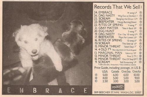 Embrace (Dischord Records)
