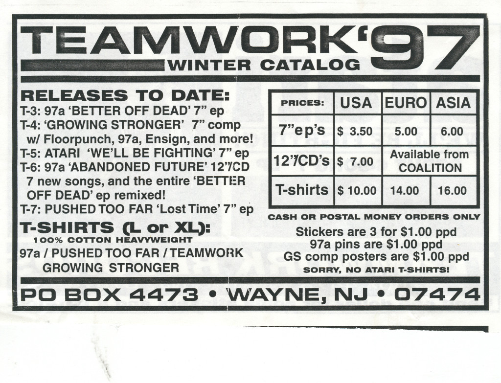 Teamwork Records Winter 1997