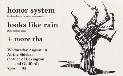 Honor System-Looks Like Rain @ The Sidebar Baltimore MD 8-16-00
