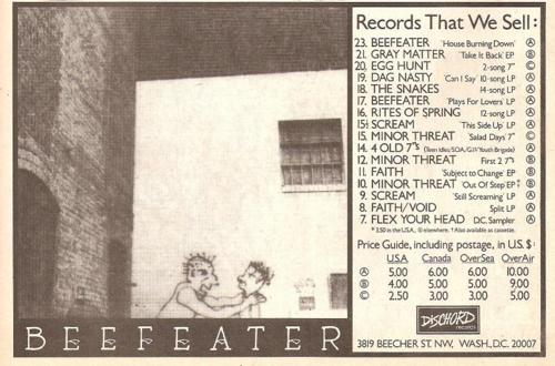 Beefeater (Dischord Records)