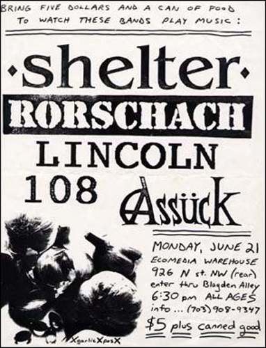 Shelter-Rorschach-Lincoln-108-Assuck @ Ecomedia Warehouse Washington DC 6-21-93
