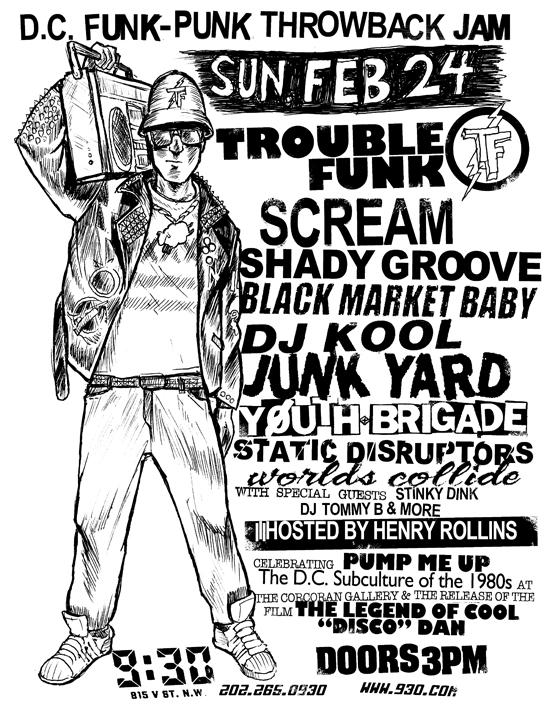Trouble Funk-Scream-Shady Groove-Black Market Baby-Youth Brigade @ 930 Club Washington DC 2-24-13