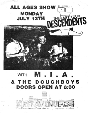 Descendents-MIA-Doughboys @ 7th St. Avenue Minneapolis MN 7-13-87