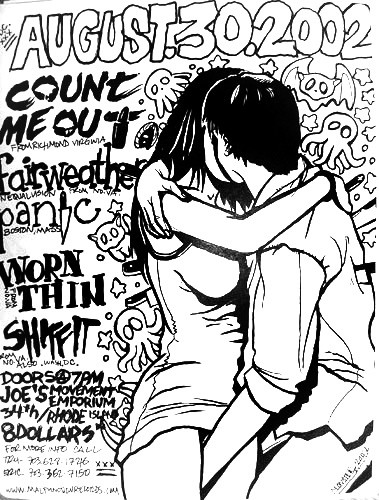 Count Me Out-Fairweather-Panic-Worn Thin-Shit Fit @ Joe's Movement Emporium Mt. Rainer MD 8-30-02