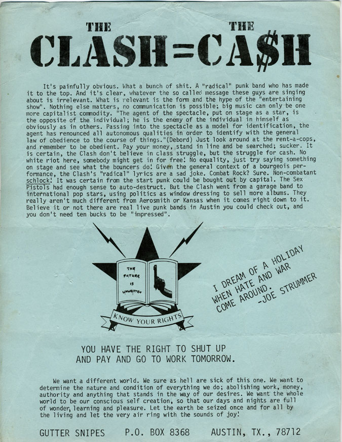 The Clash=The Ca$h
