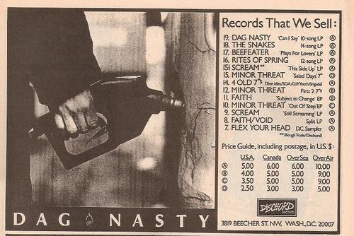 Dag Nasty (Dischord Records)