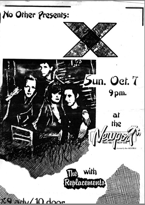 X-The Replacements @ The Newport Columbus OH 10-7-84