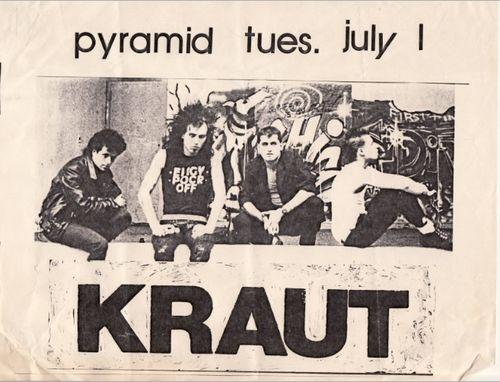 Kraut @ Pyramid Club New York City NY 7-1-86