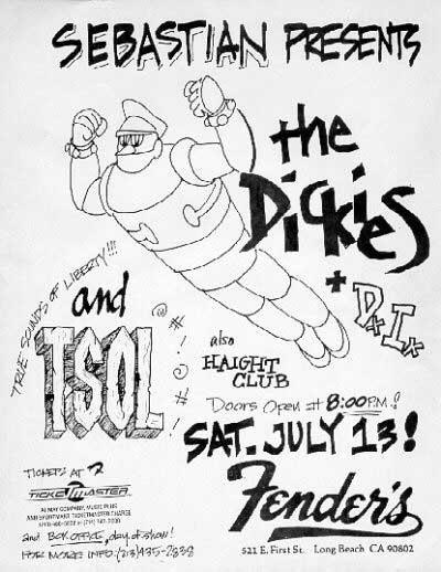 The Dickies-DI-TSOL @ Fender's Long Beach CA 7-13-85