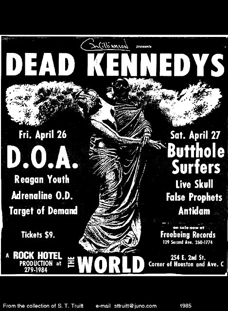 Dead Kennedys New York City Weekend 1985