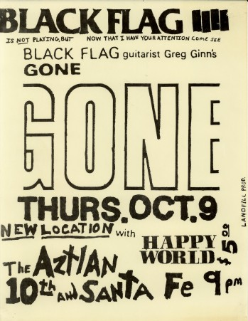 Gone-Happy World @ The Aztian Denver CO 10-9-86