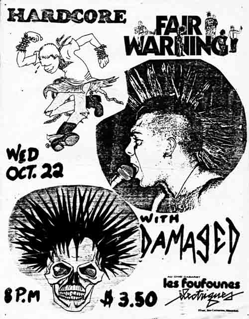 Fair Warning-Damaged @ Les Foufounes Montreal Canada 10-22-86
