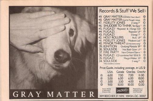 Gray Matter (Dischord Records)