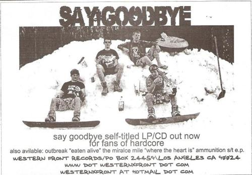 Say Goodbye (Western Front Records)