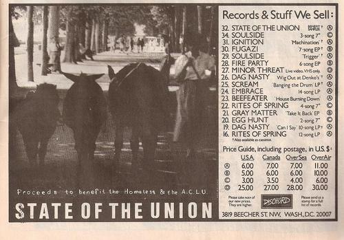 State Of The Union (Dischord Records)