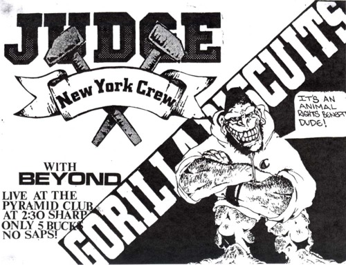 Judge-Gorilla Biscuits-Beyond @ Pyramid Club New York City NY