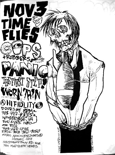 Time Flies-Cops & Robbers-Panic-The First Step-Worn Thin @ Hi Fidelity Woodbridge VA 11-3-01
