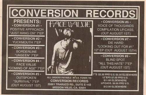 Conversion Records (Face Value)