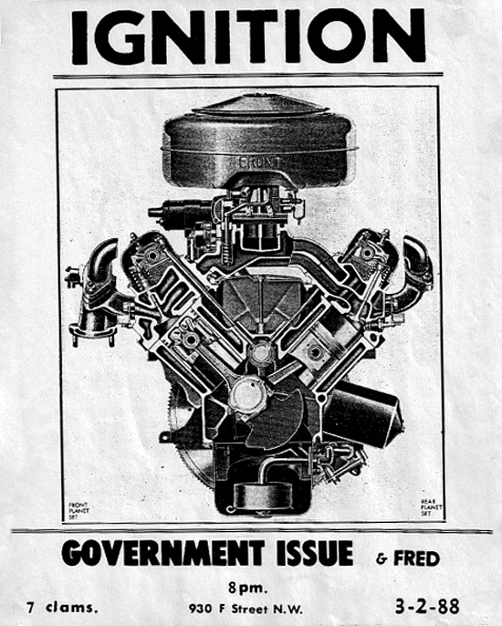 Ignition-Government Issue-Fred @ Washington DC 3-2-88