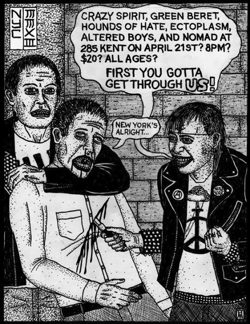 Crazy Spirit-Green Beret-Hounds Of Hate-Ectoplasm-Altered Boys-Nomad @ 285 Kent Brooklyn NY 4-21-13
