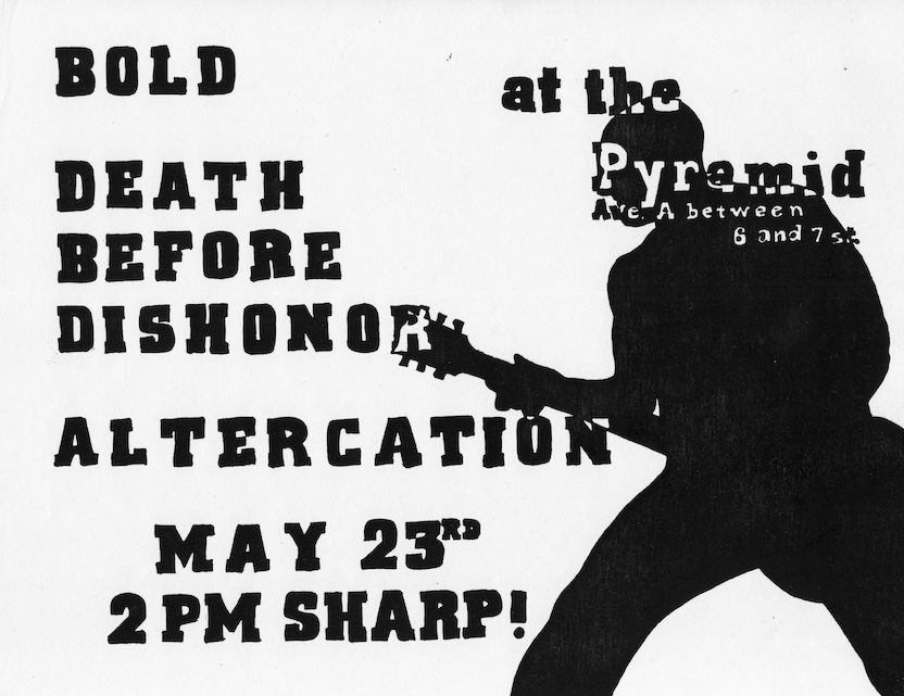 Bold-Death Before Dishonor-Altercation @ The Pyramid New York City NY 5-23-87