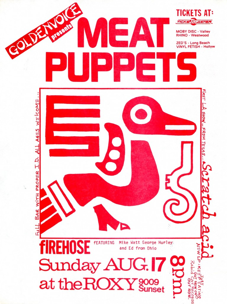 Meat Puppets-Firehose-Scratch Acid @ The Roxy Hollywood CA 8-17-86