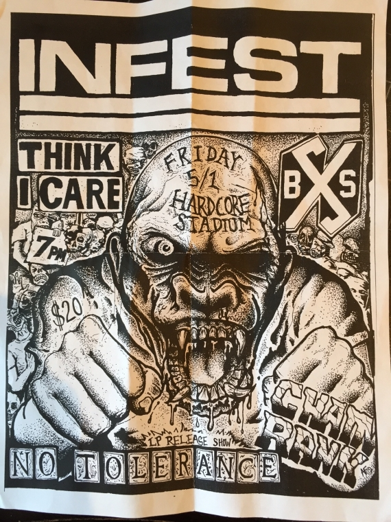 Infest-Think I Care-Boston Strangler-Chain Rank-No Tolerance @ Cambridge MA 5-1-15