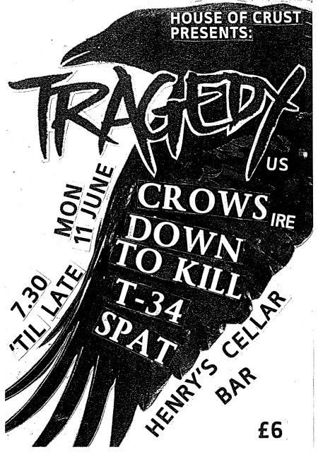 Tragedy-Crows-Down To Kill-T-34-Spat @ Edinburgh England 6-11-05